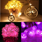 20 LEDs String Rose Flower Fairy Lights Indoor Christmas Party Bedroom Battery