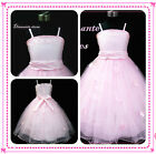 Kids Girl Christmas Pinks Wedding Party Flower Girls Dresses AGE SIZE 1.2.3.4.5Y