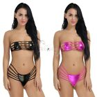 Lingerie Women's Micro Thong G-string Strappy Push-up Bra Top Swimsuit Swimwear