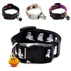 Halloween Dog Puppy Cat Funny Design Adjustable Pet Collar with Small Bell  MS