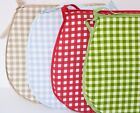 NEW 4 x Tie On Seat Pad Pads Chair Cushion Kitchen House Gingham Colour Choice