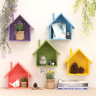 Wooden House Shelving Display Unit Wall Hanging Box Storage Home Shelf Decor