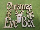 010909 MDF Laser Cut - Pack of 12 Christmas eve box Topper with Reindeer 190x190