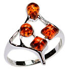 2.0g Authentic Baltic Amber 925 Sterling Silver Ring Jewelry N-A7364