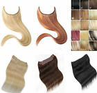 1pc New 100 Remy Human Hair Hidden Invisible Wire Weft Hair Extension Full Head