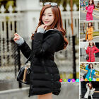 2017 Women Winter Coat Down cotton jacket hooded Long ladies coat parka outwear