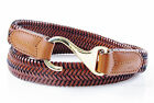 NWT LAUREN Ralph Lauren Hook Buckle Stretch Leather Belt - Lauren Tan