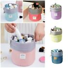 New Travel Waterproof Cylinder Big Cosmetic Bag Suit Makeup Bag Pouch Toiletry