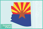 ARIZONA State Shaped Flag Vinyl Decal #1 Car Truck Window Sticker CUSTOM SIZES
