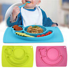 Silicone Mat Snail Table Baby Kids Non-slip Food Dish Separated Plate Bowl Tray