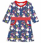 Girls SUNSHINE SWING Santa dress 14 NWT vintage Christmas party outfit blue red