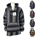 Baja Shirt Woven Hoodie Soft Brushed Inside Unisex Pullover Jerga Jacket Sweater