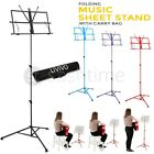 Livivo Metal Adjustable Sheet Music Stand Holder Folding Foldable With Carry Bag