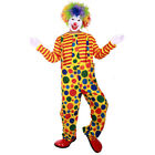 Circus Clown Costume Comedy Mens Clown Outfit Halloween Masquerade Fancy Dress