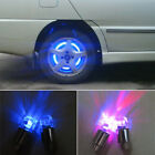 2pc LED Valve Dust Cap Tire Tyre Light Decor For Car Bike Wheel with 6 Batteries
