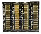 HALLOW'S EVE* 25pc Nail Art Set NAUGHTY STICKERS Gold+Black (Boxed) *YOU CHOOSE*