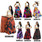 Skirt SDB468 Thailand Heavy Cotton Patchwork Long Wrap Sarong Boho Gypsy Hippie