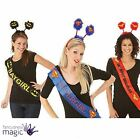 *Hen Party Do Girl Lady Sash Head Boppers Costume Outfit Fancy Dress Super Hero*