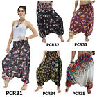 Pants PCR3135 Thai 2in1 Jumpsuit Harem Yoga Boho Comfy Aladdin Baggy Flowy Women