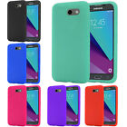 For Samsung Galaxy J3 Eclipse Rugged Rubber SILICONE Soft Gel Skin Case Cover