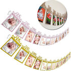 Hot Kids Birthday Gift Decorations 1-12 Month Photo Banner Monthly Photo Wall