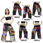 Pants PBH6-11 Thailand Cotton Patchwork Harem Hippy Loose Fit Women Men Trousers