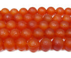 Antiqued Red Agate Round Gemstone Beads~Guaranteed