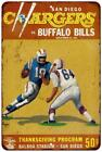 1964 San Diego Chargers vs. Buffalo BVintage Reproduction 8x12 Sign 8120550 $16.95 USD