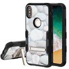 Apple iPhone X XS Rubber IMPACT TUFF Hybrid KICKSTAND Case Cover + Screen Guard