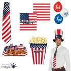 American 4th July Independence Day USA Party Partyware Tableware Tie Balloons