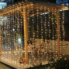 3/6M LED Outdoor Indoor Curtain Fairy String Light Garlands Wedding Xmas Party