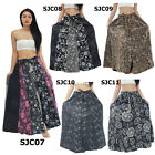 Skirt SJC Unique Thailand 100% Cotton Button-Up Long Peasant Boho Gypsy Casual