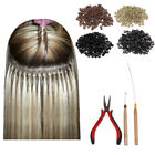 200pcs Silicone Micro Ring Bead Feather Hair Extension Pliers Hook Loop Tool Set