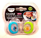 Brother Max Crystal Clear Boys Orthodontic Soothers 3 - 12 Mths Bpa Free New