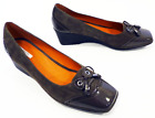 SALE! GEOX WOMENS TAYLOR SIXTIES MOD SUEDE & PATENT BOW SHOES IN VISONE RACK 19D