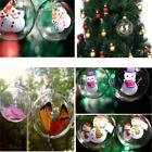 5x Clear Baubles Empty Fillable Christmas Tree Decorations Ornament Gift NEW - L