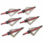 SAS 3-Blade Sharp Hunting Fixed Broadhead Arrow Tips 125gr. or 100gr. 6/Pack