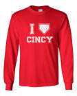 007 I Love Cincy homeplate ohio sports Long Sleeve Shirt cincinnati baseball new $14.99 USD