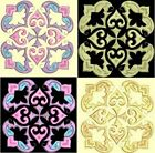 Anemone Quilt Squares 5- DESIGN 2-Anemone Machine Embroidery Singles- In 4 Sizes