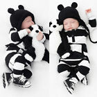 Kids Baby Boy Girl Infant Romper Cotton Bodysuits Newborn Clothes Outfits 0-3Y U