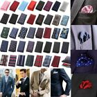 Men Wedding Party Paisley Dot Floral Hanky Pocket Square Hankerchief Formal