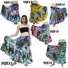 Skirt SQE11 Thai Cotton Tie-Dye Boho Gypsy Hippie Batik Long Broomstick Peasant
