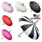 Umbrella Anti UV Sunscreen Rain&Sunny Windproof Strong Pagoda US Stock
