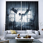 3D Blockout Curtain 2 Panels Fabric Window-When Love Losing Control-Decor Drapes