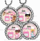 I Love Baking Kid's Bottle Cap Necklace Handcrafted Cooking Baking Kid's Family