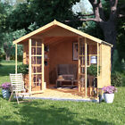 BillyOh Lily Tongue and Groove Double Door Garden Summerhouse Apex Roof & Felt