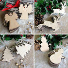 10Pcs Wooden Christmas Tree Kids Crafts Hanging Ornaments Xmas Decoration Gift