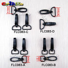 "1/2"" ~ 1"" Swivel Snap Hook Plastic Black For Weave Paracord Lanyard Buckle"