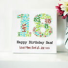 18TH BIRTHDAY CANVAS. WORD ART FRAMED PRINT - PERSONALISED GIFT - ANY NUMBER