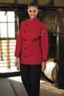 Uncommon Threads Rio chef coat, Red, sizes from XS to 2XL, 0482